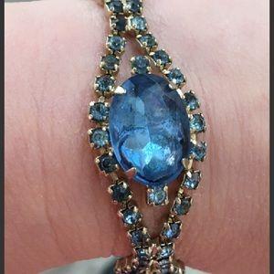 Jewelry - Vintage Blue Victorian Revival Art Deco Bracelet